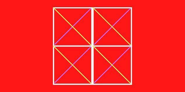 3. Şekilde kaç tane üçgen vardır?