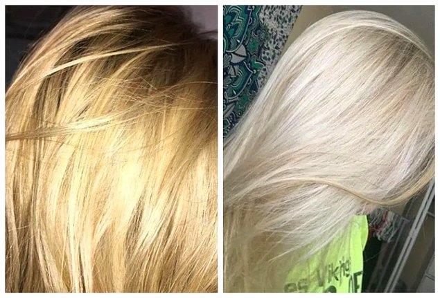 6. Evde sadece 5 dakikada turunculaşan saçları esas rengine kavuşturun!