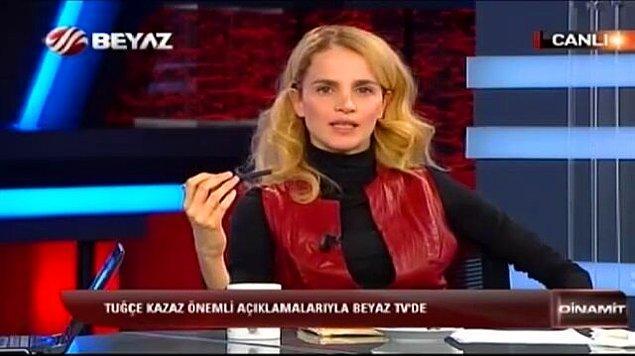 Özellikle Mustafa Kemal Atatürk'le ilgili yaptığı mesnetsiz açıklamalarla gündeme gelmeyi çok seviyor Tuğçe Kazaz. Örneğin bundan yakın zaman önce şöyle bir tweet atmıştı şahsi hesabından.