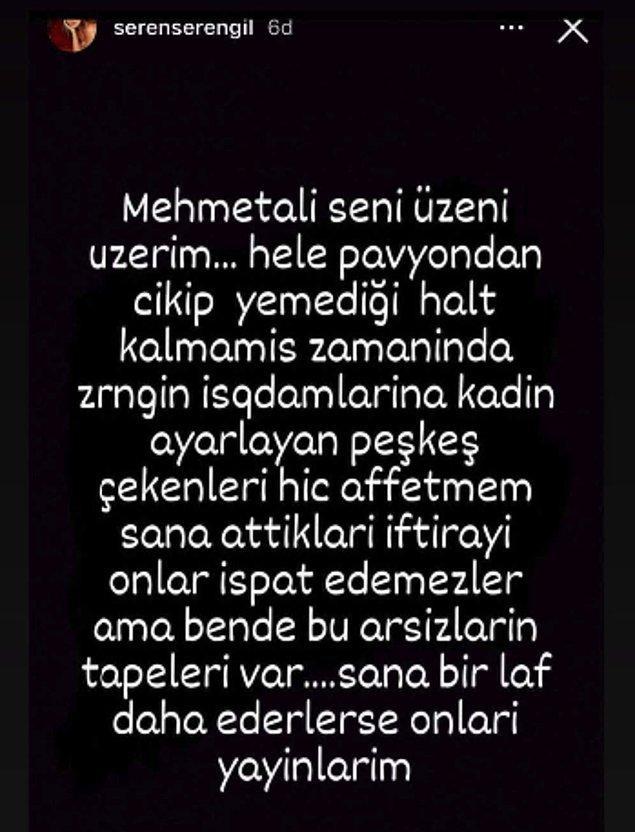 Seren Serengil de Mehmet Ali Erbil'e destek oldu. Ortalık çok karışacak galiba!
