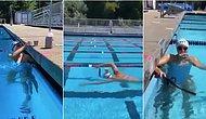 Altın Madalyalı Yüzücü Katie Ledecky'nin Kafasında Bir Bardak Çikolatalı Sütle Yüzdüğü Görüntüler