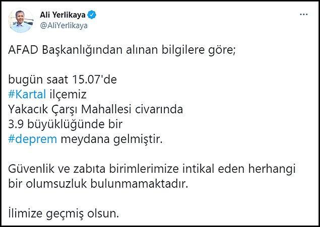 İstanbul Valisi: Herhangi bir olumsuzluk yok