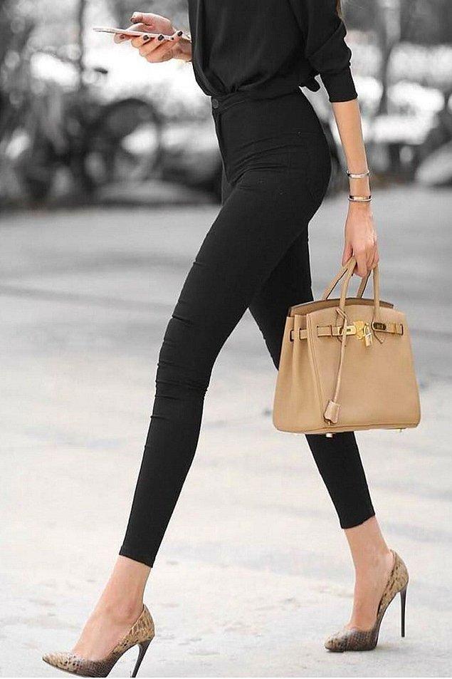 1. Yüksek belli dar paça pantolonlar