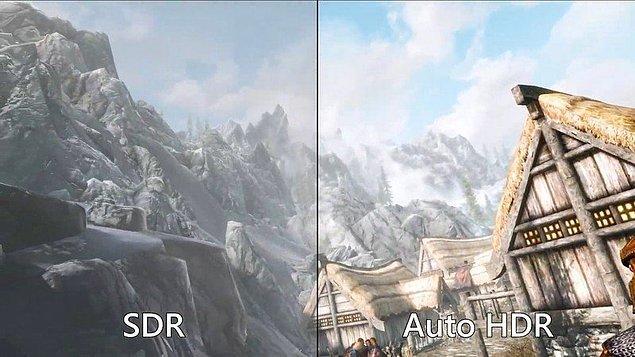 Yeni oto HDR özelliğiyle birlikte, SDR oyunlar desteklenen ekranlarda otomatik olarak HDR görüntüye çevrilecek. Böylece görüntü kalitesinde büyük artış sağlanacak.