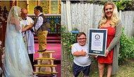 Учительница ростом 162 см и ее муж ростом 109 см попали в Книгу рекордов Гиннеса как пара с самой большой разницей в росте