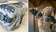 Итальянский художник доказывает, что татуировки хорошо смотрятся не только на коже людей, но и на скульптурах (20 фото)