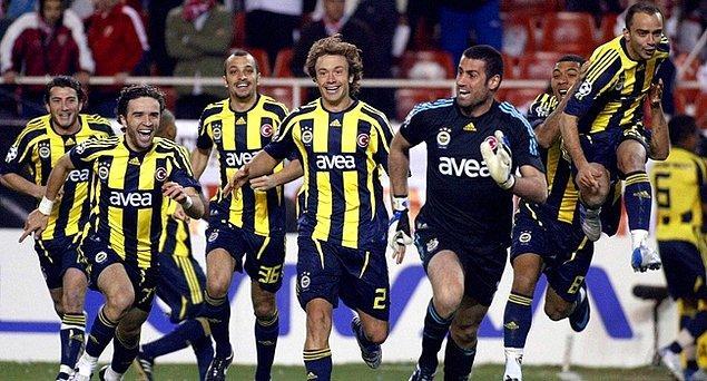 4. 2007-2008 sezonunda Fenerbahçe hangi takımı yenip çeyrek finale çıkmıştır?