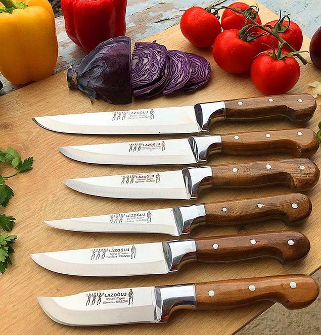 4. Profesyonel bir mutfak için profesyonel bir bıçak setine sahip olmanız gerekiyor.
