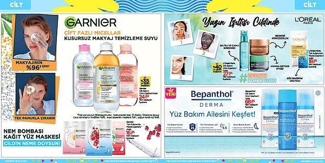 Garnier'nin en popüler ürünleri olan makyaj temizleme suları 25,50'den başlayan fiyatlarla.