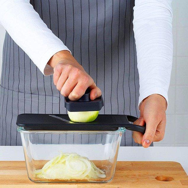 3. Tüm sebzeleri usta bir aşçı gibi doğramanıza yardımcı olacak doğrayıcılar için; 👇