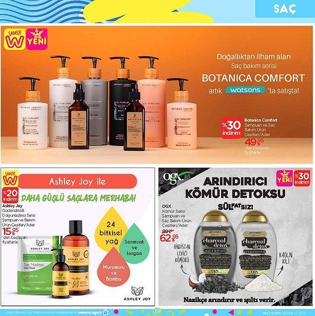 Botanica Comfort ürünleri bu ay itibari ile %30 indirimle Watsons'larda satışta olacak.