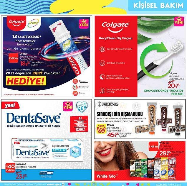 Ağız bakım ürünleri;