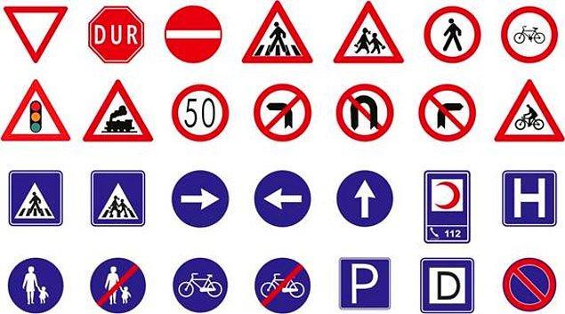 4. Tek yönlü yollarda tabelalara bakarak ilerleyin.