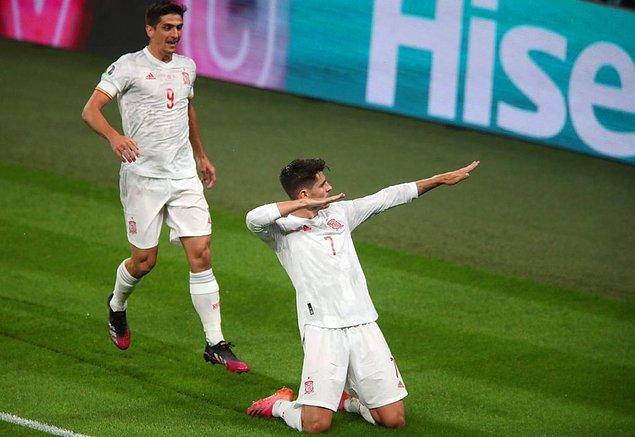 80. dakikada Morata ile oldu ve mücadelenin normal süresi 1-1 beraberlikle tamamlandı. Uzatmaya iden maçta her iki takımda skoru değiştirecek golü bulamayınca finale kalacak takımı penaltı atışları belirledi.