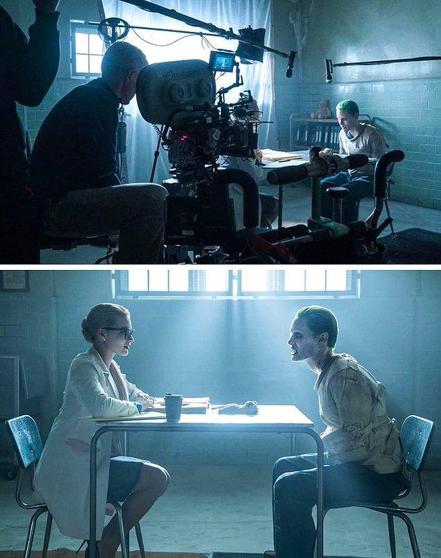 3. Margot Robbie ve Jared Leto, Suicide Squad'ın en zor sahnelerinden bazılarını çekerken.