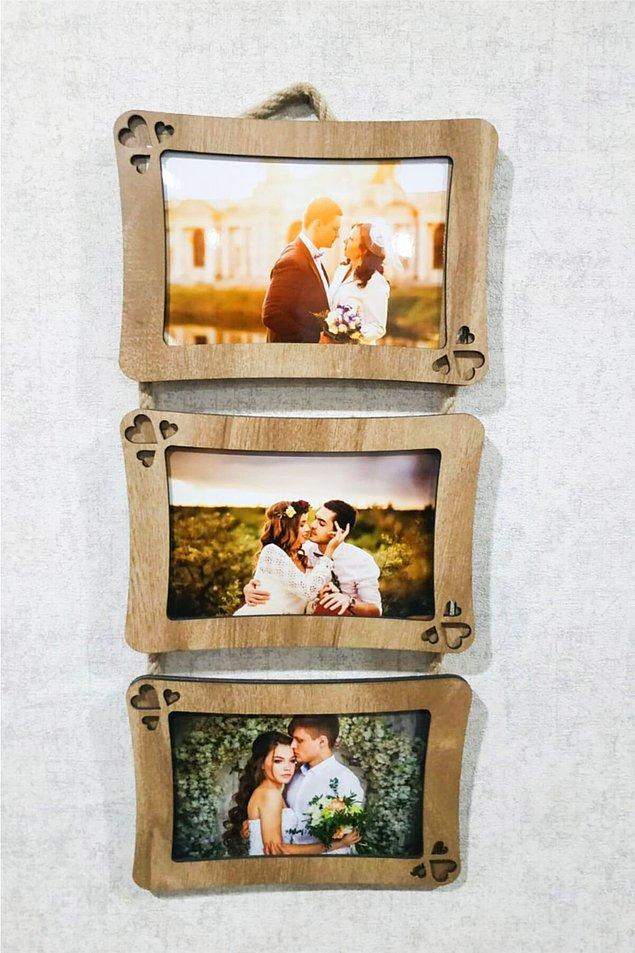 1. Düğünde bol bol çekildikleri fotoğrafları koyabilecekleri çerçeveler...
