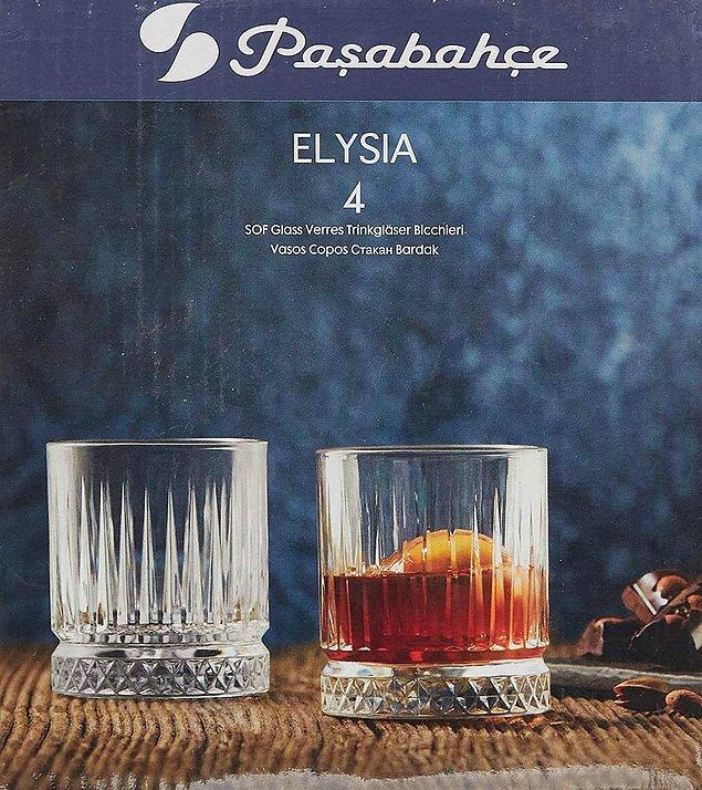 17. Paşabahçe 4'lü bardak setini ister su bardağı olarak ister viski bardağı olarak değerlendirebilirsiniz.