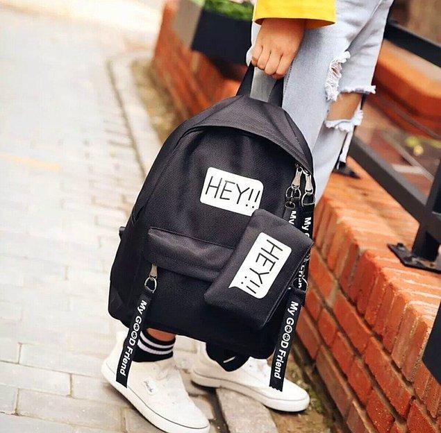 6. Elbette bir sırt çantasına da ihtiyacın olacak.