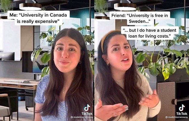 """""""Kanada'nın aksine İsveç'te üniversiteler harç istemiyor!"""""""