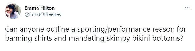 """""""Tişörtleri yasaklayıp minik bikini altlarını zorunlu tutmanın performans açısından sebebini açıklayacak birisi var mı?"""""""