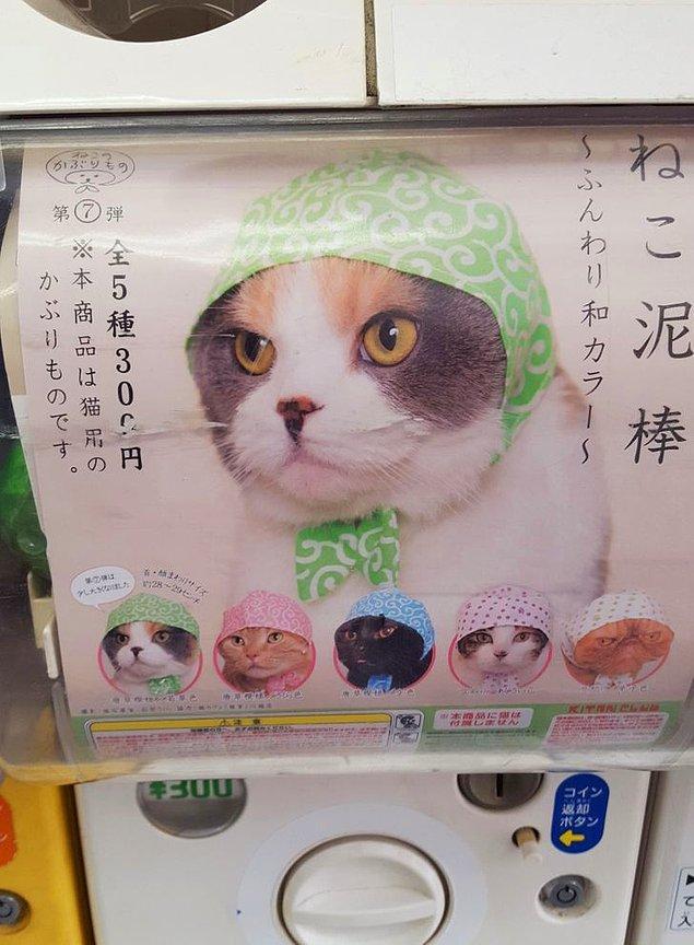 24. Osaka'da bulunan otomatlardan kedinize bandana alabilirsiniz. 😂