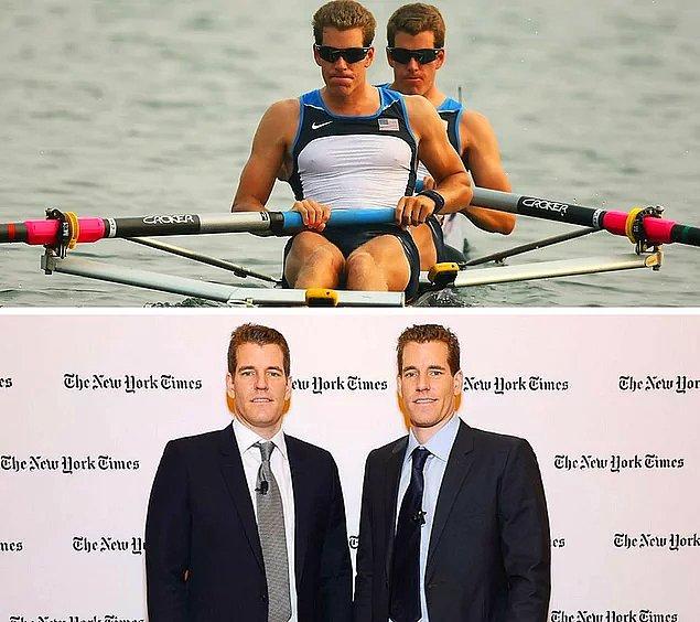 """7. """"The Social Network"""" filminden veya ilk bitcoin milyarderleri haberinden hatırlayabileceğiniz Winklevoss ikizleri aynı zamanda Olimpiyat sporcusu."""