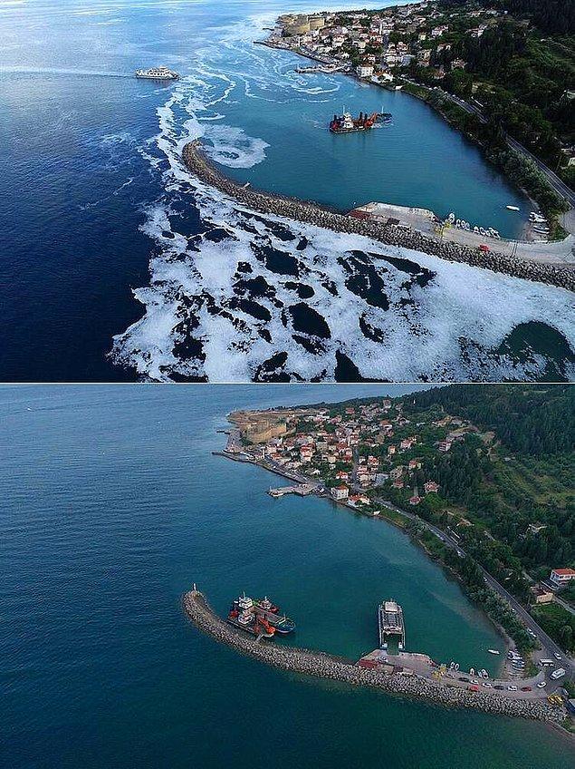 Temizleme çalışmalarıyla birlikte Marmara yüzeyindeki müsilajın iyice azaldığına tanık olmuştuk.