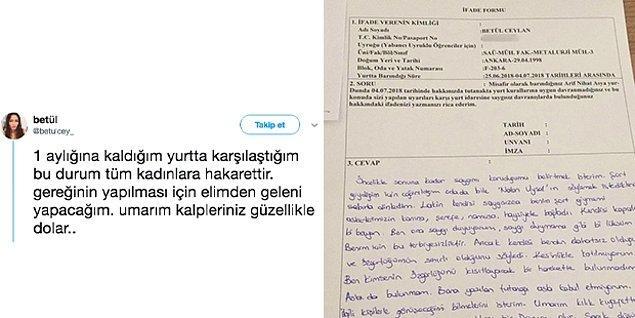 Bundan yalnızca birkaç sene önce Sakarya'daki KYK yurdunda kalan bir kadın öğrencinin şort giydiği için ifadesi alınmıştı...