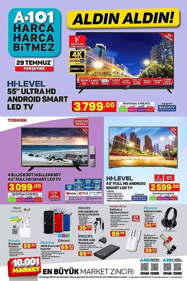 A101'de bu hafta 3 farklı televizyon satışta olacak.