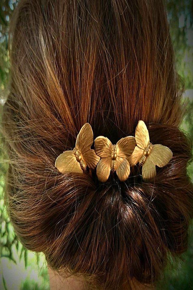 3. Topuz tokası yardımıyla da çok şık saç modelleri yapabilirsiniz.