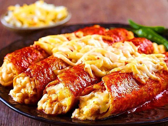 1. Peynirli Tavuklu Enchilada: