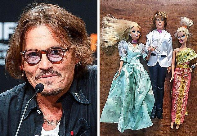 1. Johnny Depp: Barbie bebek koleksiyonu