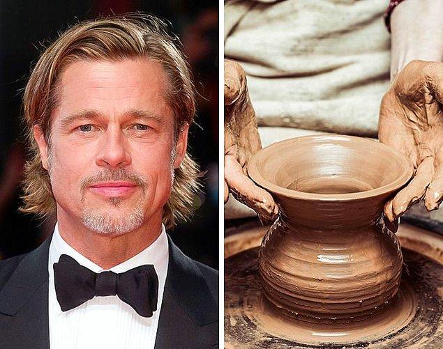 11. Brad Pitt: Çömlekçilik