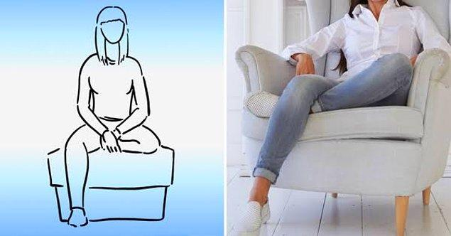 1. Ayağını altına alıp oturmak