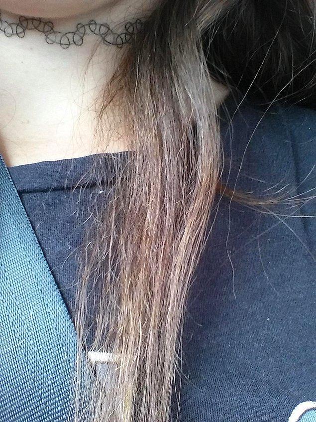 3. Saç telleriniz hassaslaşır ve çabucak kırılabilir.