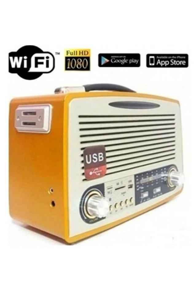4. Bu nostaljik radyo, aslında çocuğunuzun, evinizin ya da ofisinizin güvenliği için kullanabileceğiniz son teknoloji bir güvenlik kamerası.