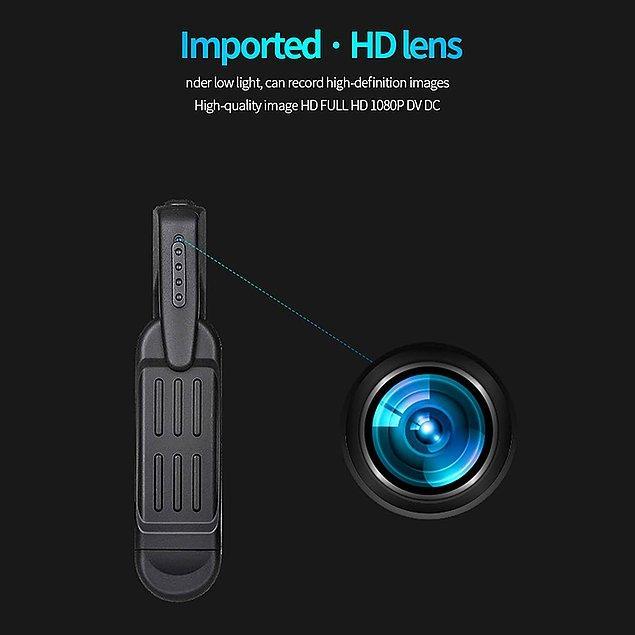 7. Mini ve taşınabilir casus kamerayı sadece görüntü için değil, konuşmaları kaydetmek için de kullanabilirsiniz.