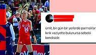 Meydanı Boş Bulan Meczupun Biri Kadın Voleybol Takımımızın Kaptanı Eda Erdem'i Tehdit Etti