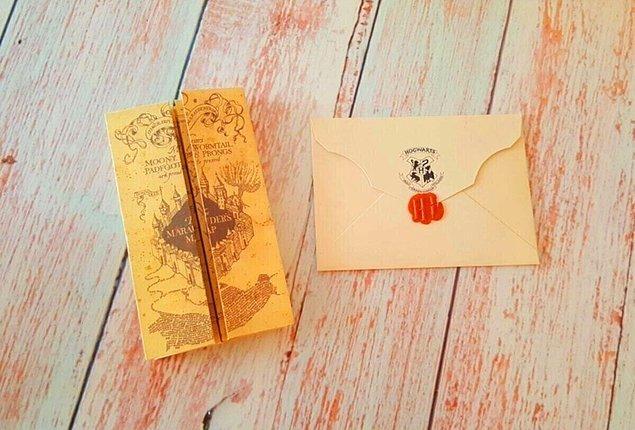 5. Çapulcu Haritası ve Hogwarts davet mektubu...