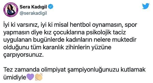 Galibiyet ve paylaşım sonrasında Sürmeneli'ye destek mesajı yağdı.