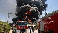 Gaziantep'te Depoda Yangın! Zaman Zaman Patlama Sesleri Duyuldu, Bölgedeki Bazı Evler Tedbir Amaçlı Boşaltıldı