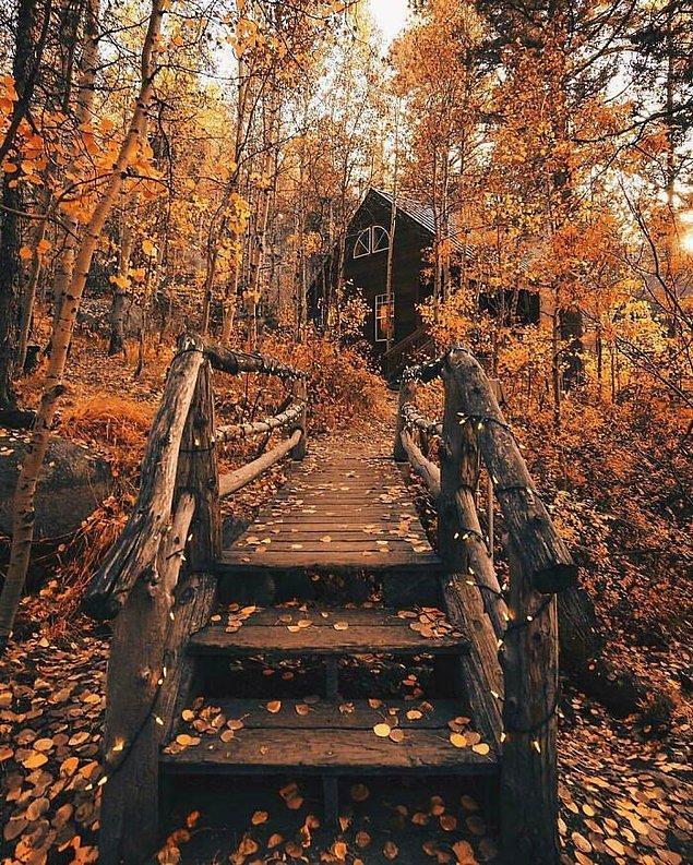 30. Sonbahar'da ortaya çıkan renklerin keyfini çıkarmak için mükemmel bir yer.