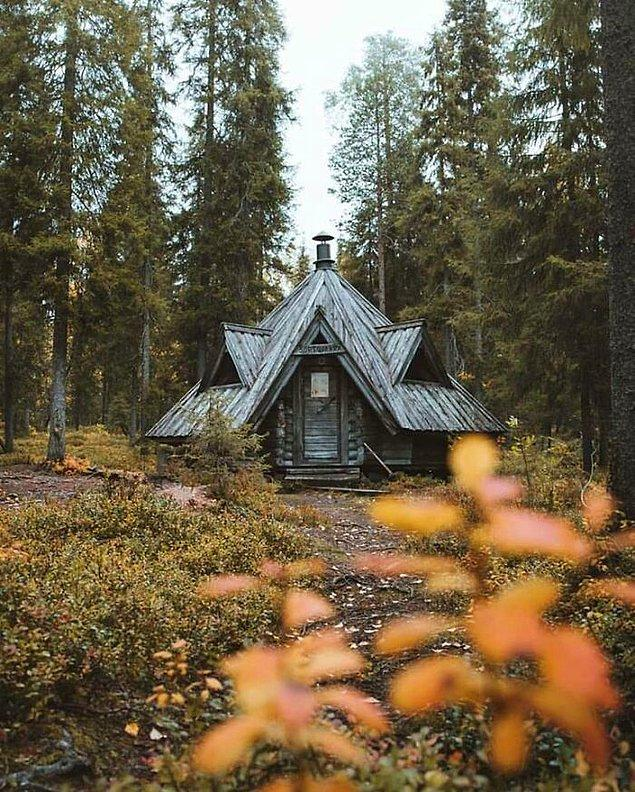 36. Finlandiya'daki bu kabin.