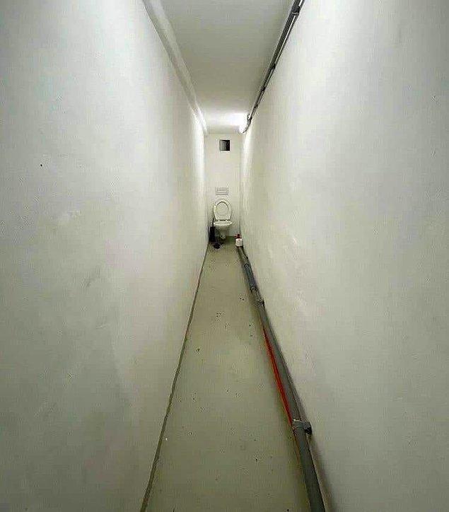 9. Bu koridor-tuvalet tüylerimi diken diken ediyor.