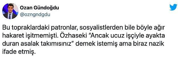 AKP'li Özhaseki'ye gelen tepkilerden bazıları şöyle 👇