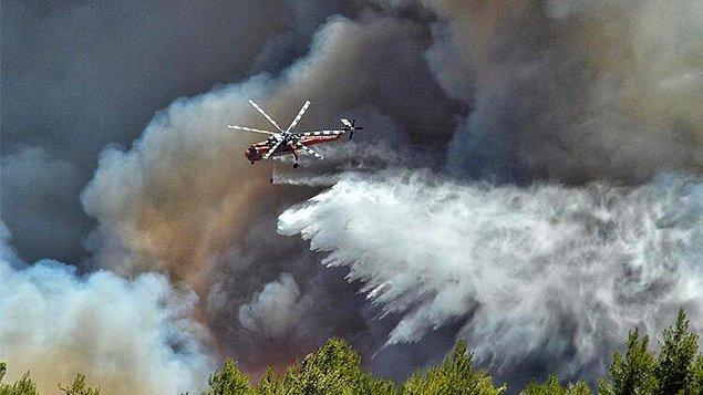 Yunanistan'da orman yangını 3 gündür devam ediyor