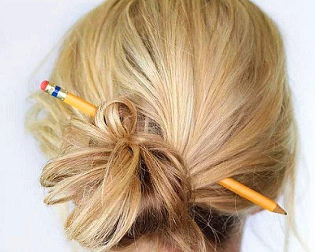 12. Alelade toplanmış saç?