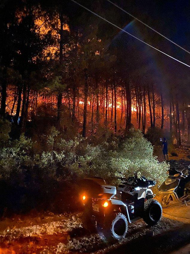 Ölüdeniz Mahallesi Ocakköy mevkisindeki ormanlık alanda henüz belirlenemeyen nedenle yangın başladı.