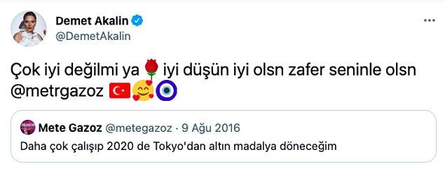 Neyse biz de bu duruma neredeyse alıştık artık derken, bugün bir hata yaptı. Türkiye'ye okçuluk branşında ilk altın madalyayı getiren Mete Gazoz'un adını doğru yazıp etiketleyemedi bile. 😅