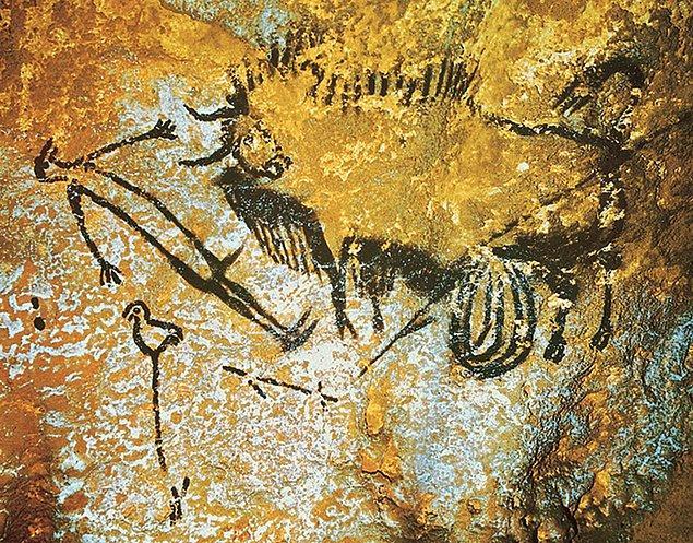 Örneğin Shaft od the Dead Man bölümünde kuş kafalı ince bir adamın bağırsakları saçılmış şekilde resmedilmiş, önünde de bizon var.